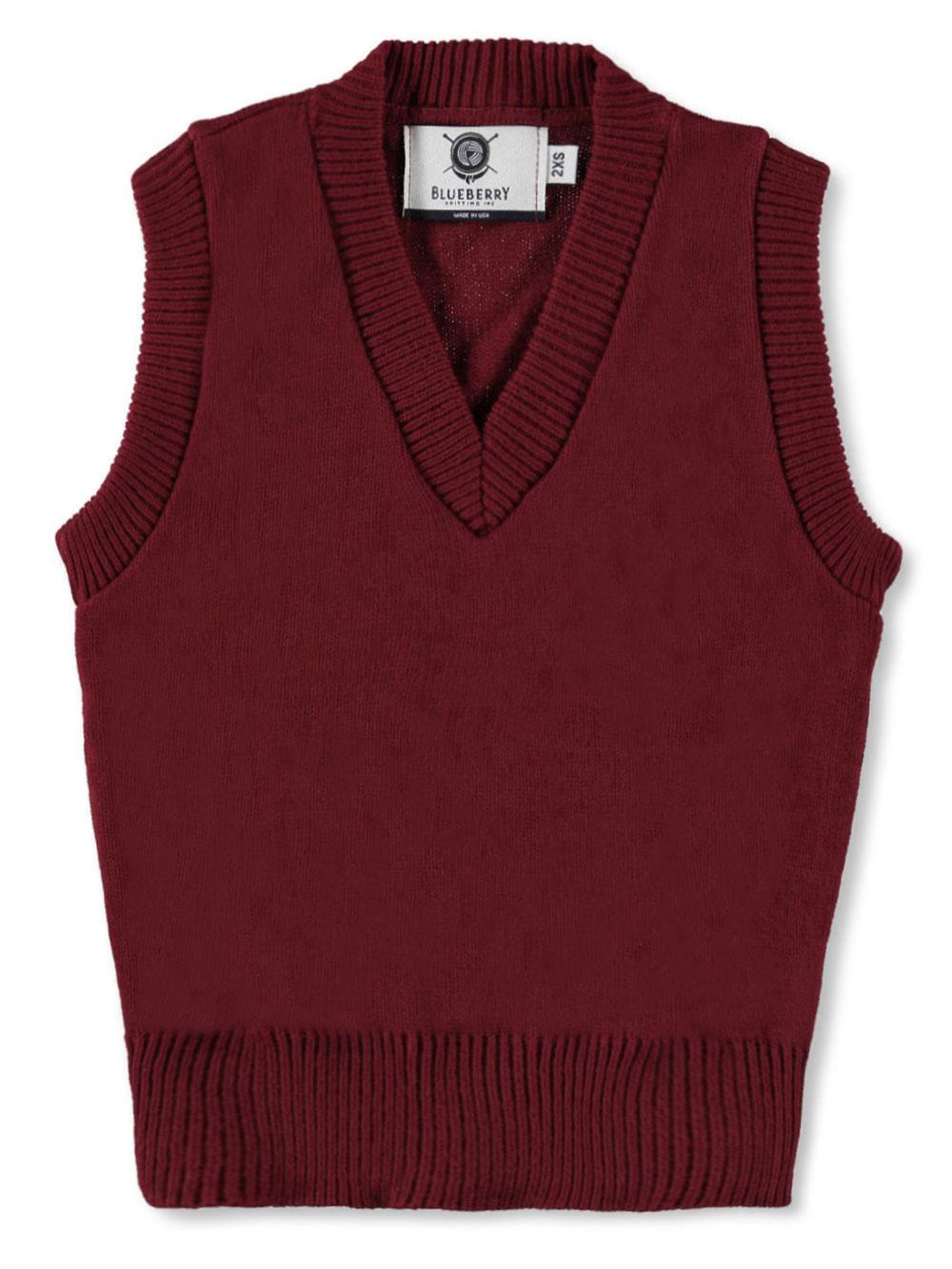 Blueberry Knitting Unisex V-Neck Sweater Vest (Sizes S - XXL) | eBay