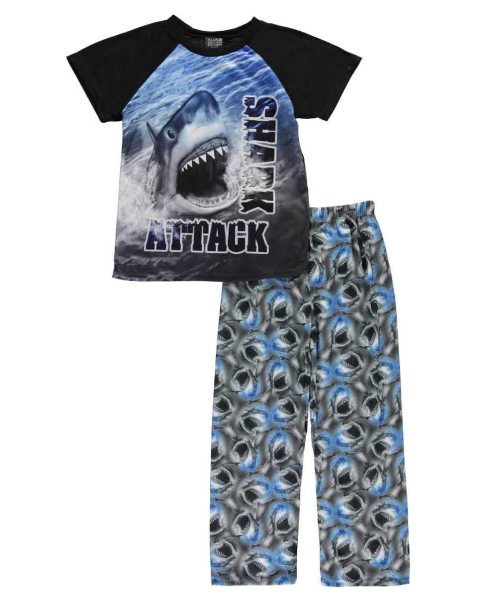 quad seven big boys 039 034 shark attack 034 2 piece quad seven big boys shark attack 2 piece pajamas sizes 8 20