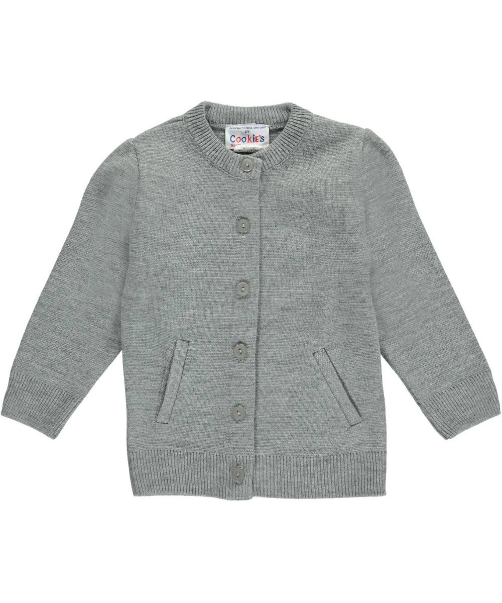 Cookie's Brand Big Girls' Crewneck Cardigan Sweater (Sizes 7 - 18 ...