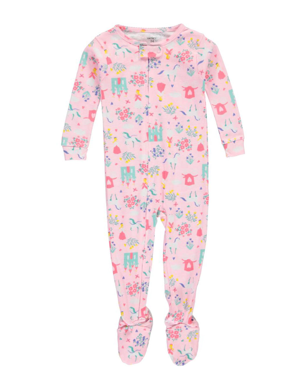 "Carter's Baby Girls' ""Unicorn Castle"" Footed Pajamas"