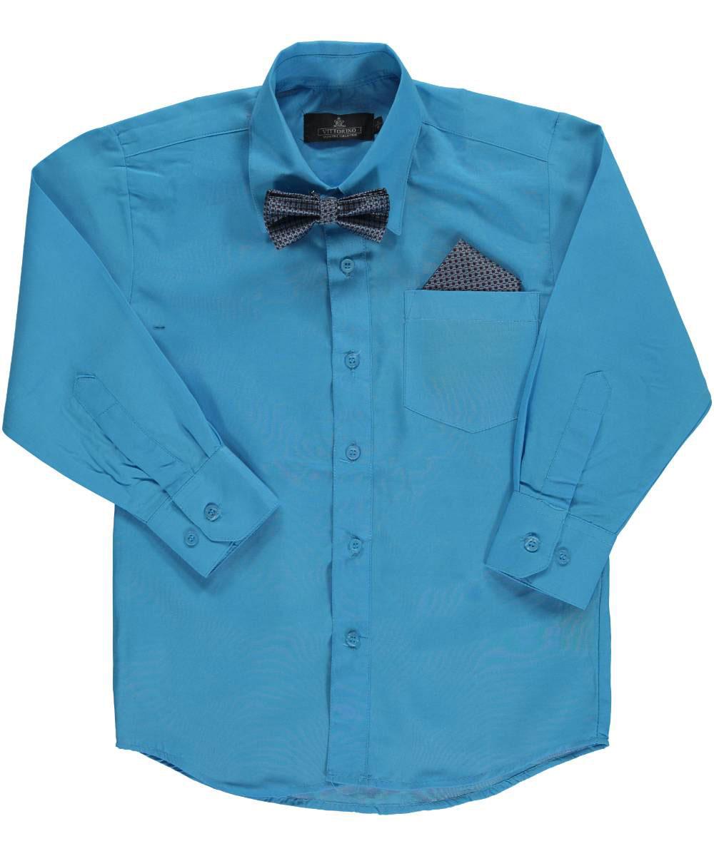 Vittorino Big Boys' Dress Shirt with Bowtie & Matching ...