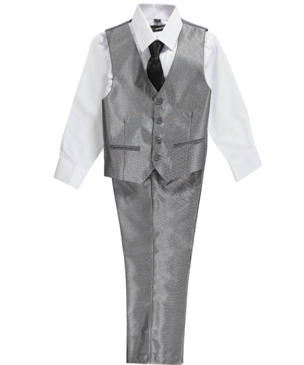 Keep your litte guy sharp in boys' dress clothes from Sears. A young man's wardrobe should have essential boys' dress clothes for any special occasions. You'll find an impressive selection of formal shirts and boys' suits at Sears in a wide range of sizes, patterns and colors.