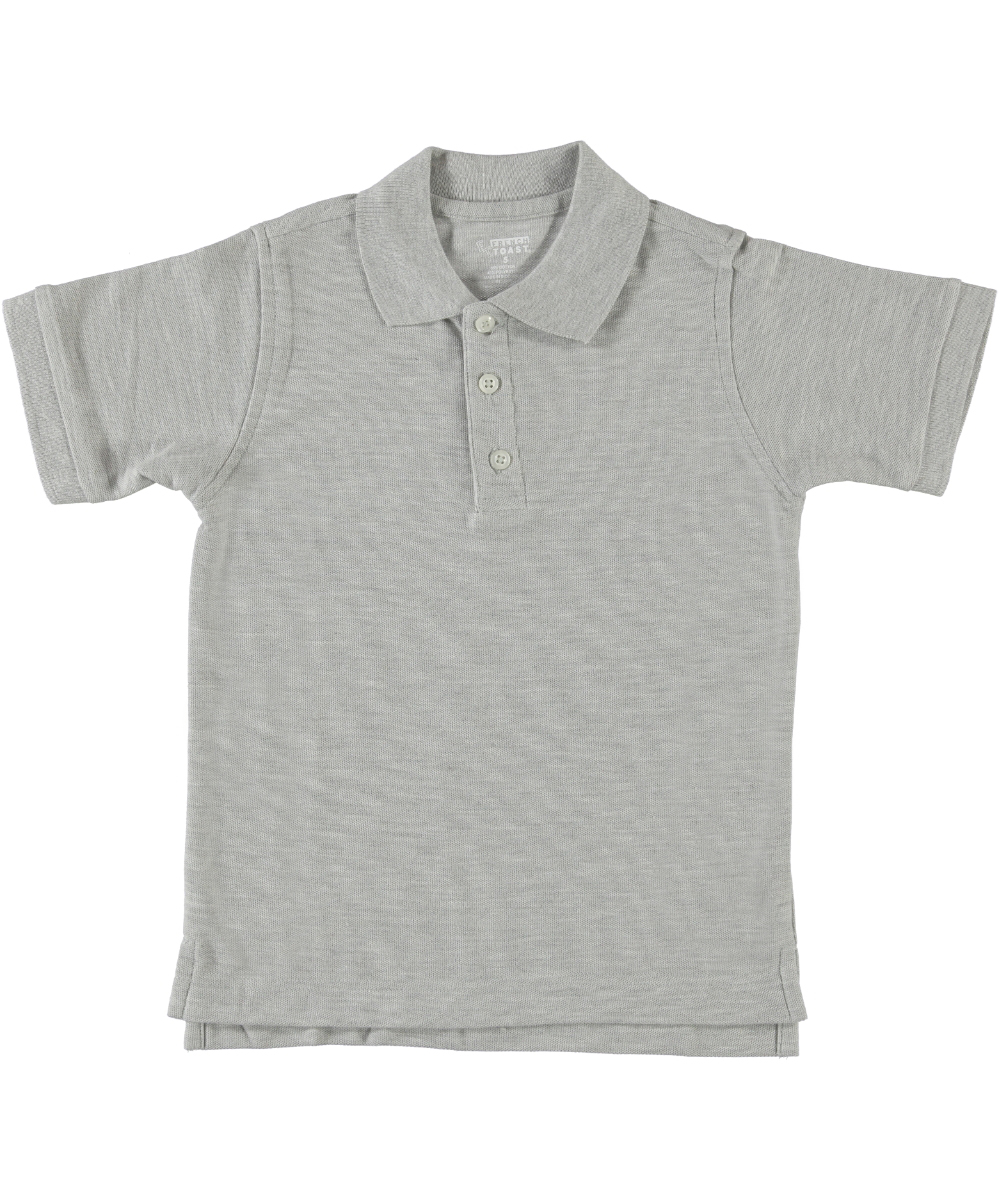 Unisex Toddler Gray Pique Polo Short Sleeve French Toast Uniform Sizes 2T to 4T