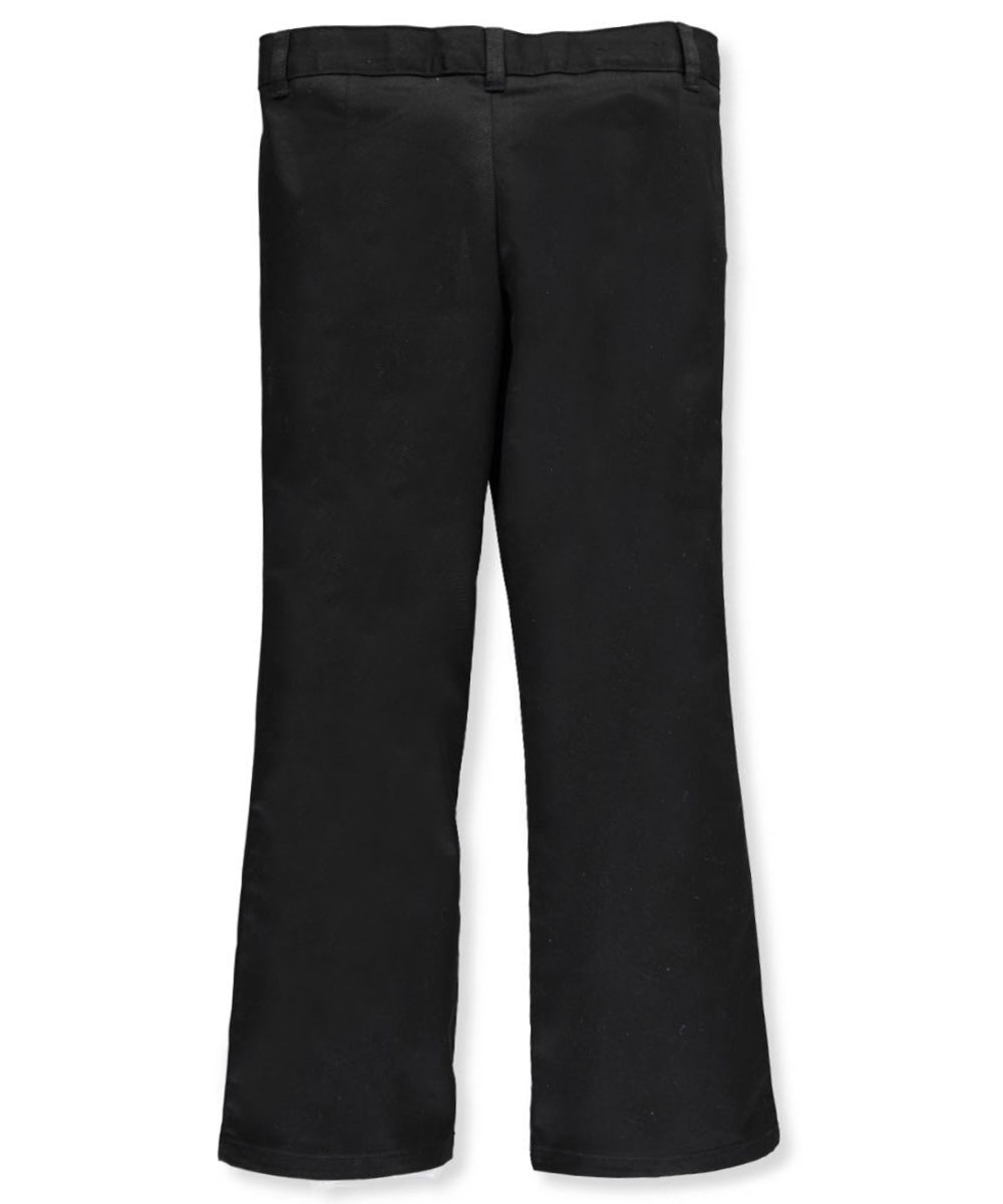 French Toast Girls/' Flat Front Flare Pants