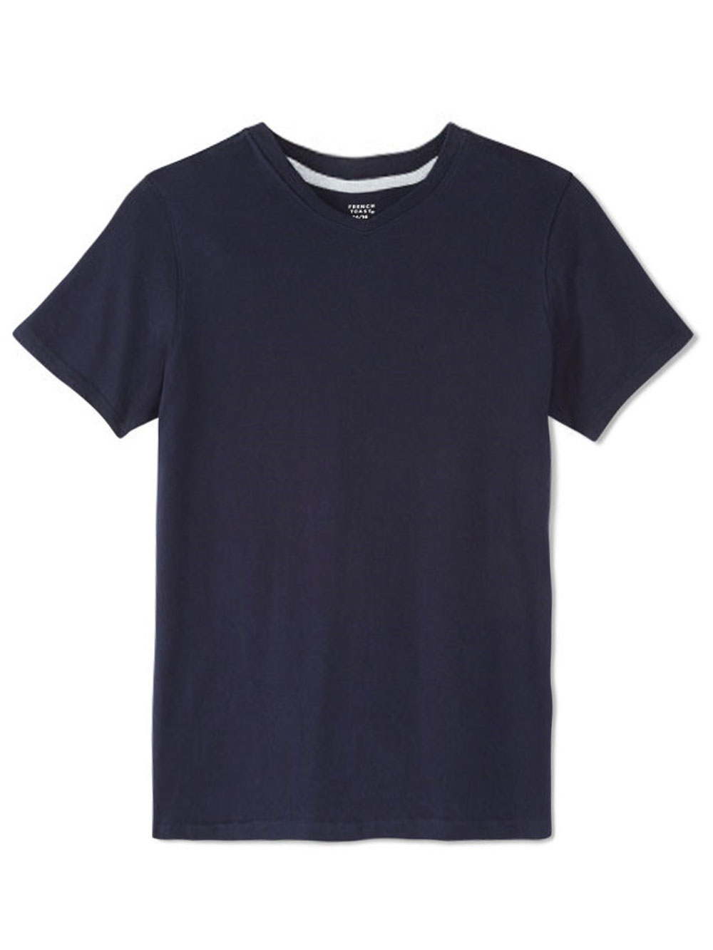 French toast big boys 39 v neck t shirt sizes 8 20 ebay for Large shirt neck size