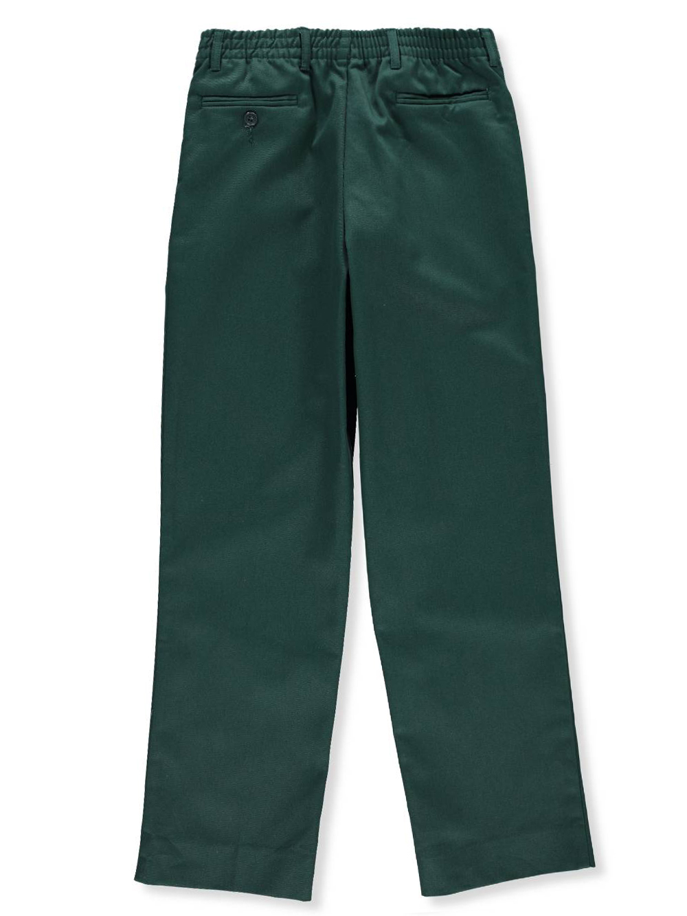 Try a pair of boys' cargo pants for school and switch into flat front khakis for a family portrait. Look for comfortable styles that let him stay looking sharp with a variety of slacks, cargos, joggers and jeans. Boys' cargo pants and jeans are great choices for casual, everyday style.