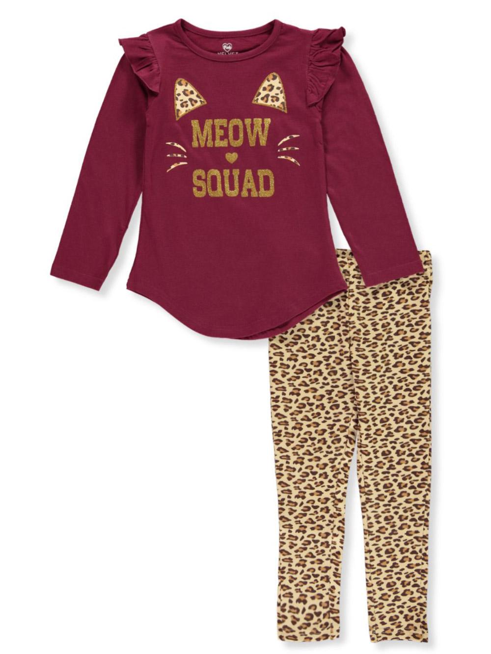 NWT Bobbie Brooks Girls 2 Piece Outfit So Soft Legging Set CUPCAKE SQUAD SO CHIC