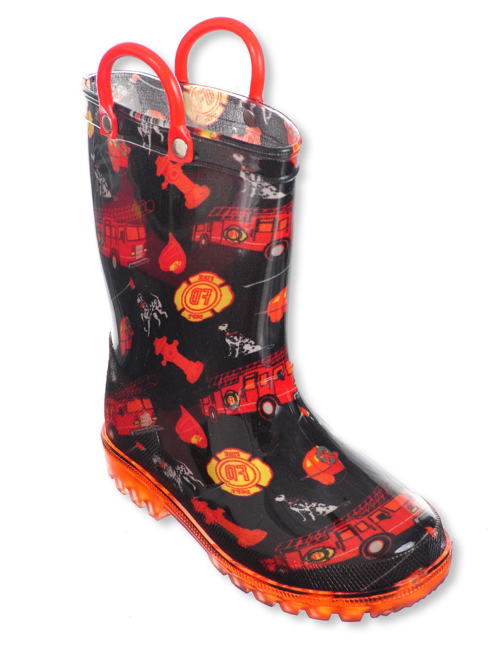 Lilly-Boys-039-Light-Up-Rubber-Rain-Boots-Sizes-5-12 thumbnail 4