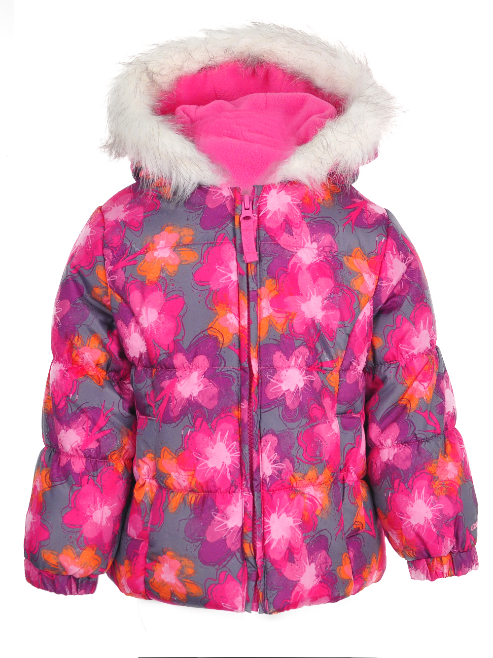 London-Fog-Girls-039-Insulated-Jacket-with-Beanie thumbnail 3
