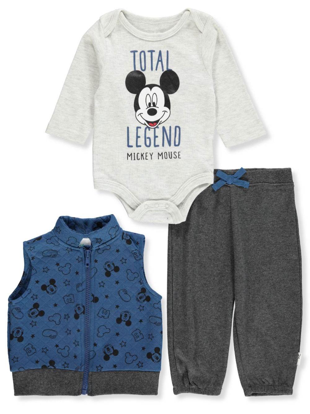 Disney Mickey Mouse Baby Boys  3-Piece Pants Set Outfit  b2e841004