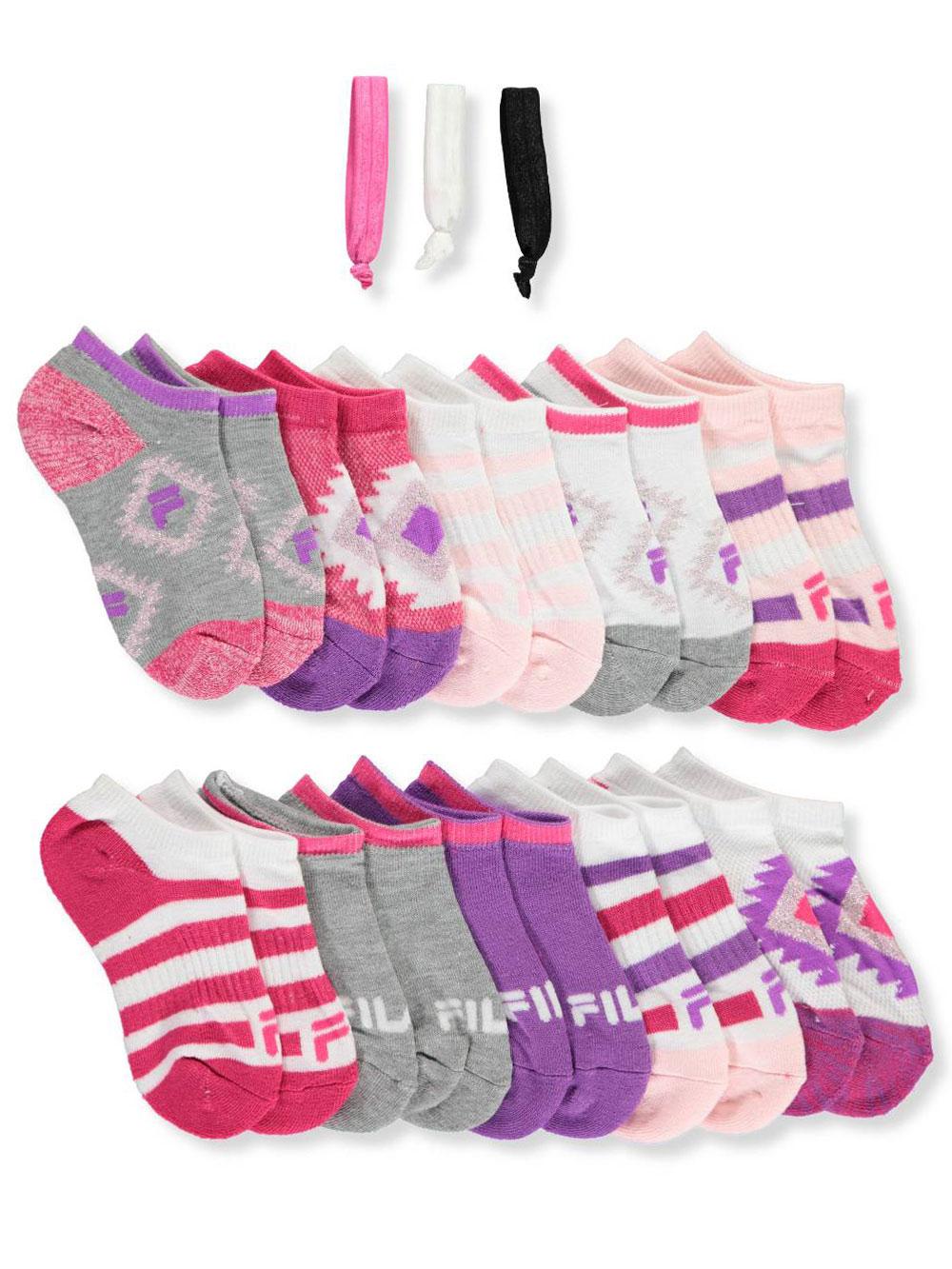 Skechers Girls/' 10-Pack No Show Ankle Socks