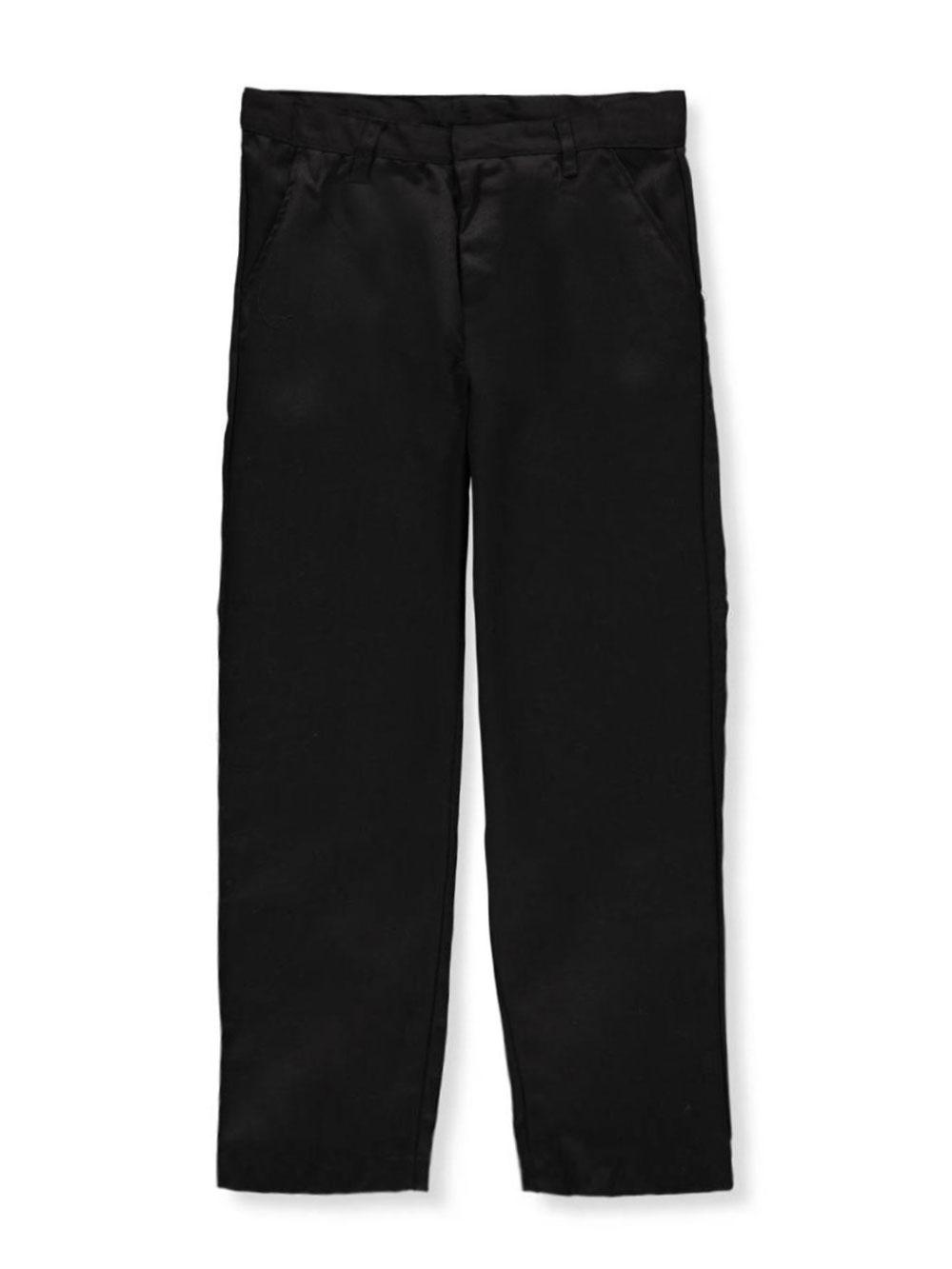 Khaki Galaxy Big Boys School Uniform Slim Pants 18 Husky