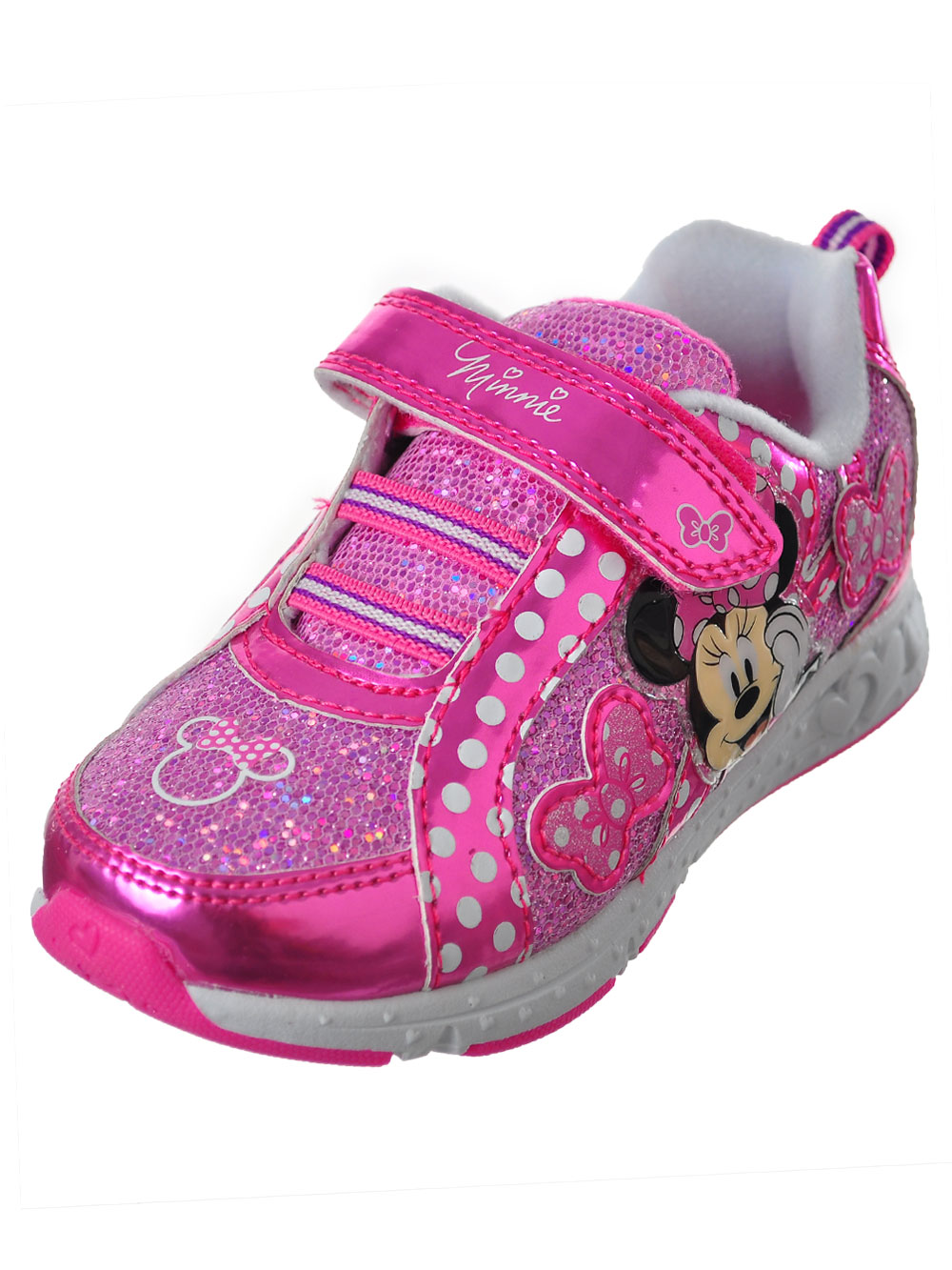 e8445ce36a2 Disney Minnie Mouse Girls  Light-Up Sneakers (Sizes 7 - 12)