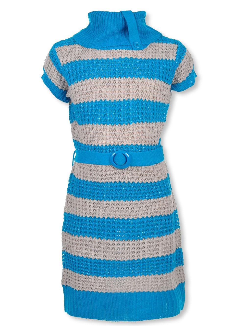 44736d78519 Dream Star Girls  Belted Sweater Dress