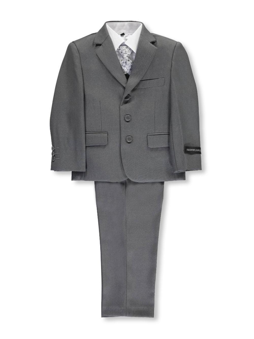 "Kids World Little Boys/' /""Winthrop/"" 5-Piece Suit Sizes 4-7"