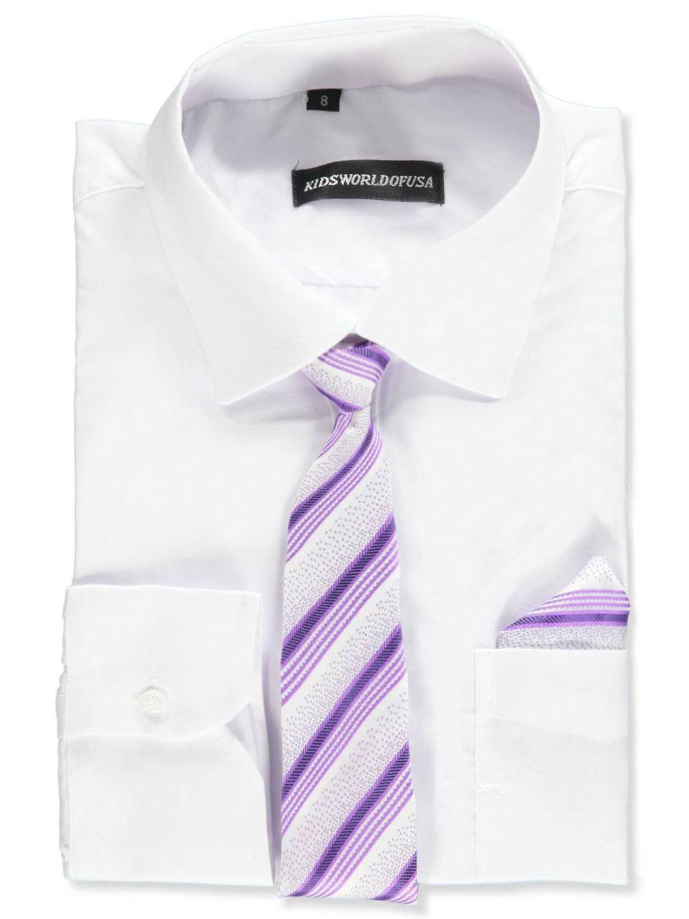Kids World Boys Dress Shirt With Accessories Ebay