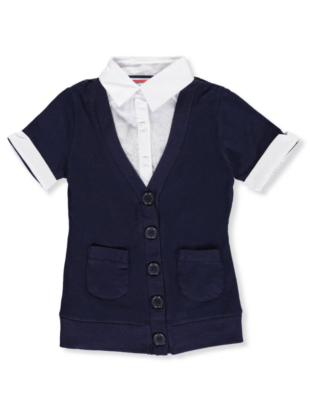 """French Toast Little Girls/' /""""Safari Classic/"""" Belted Dress Sizes 4-6X"""