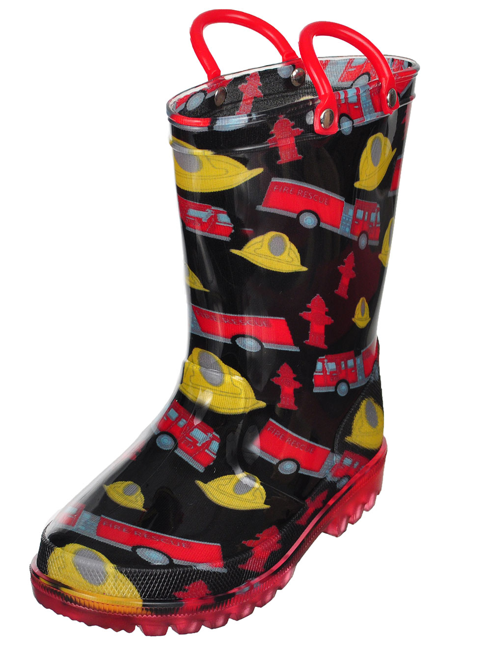 49d41bba79fa Details about Lilly Boys  Light-Up Rubber Rain Boots (Sizes 5 - 12)